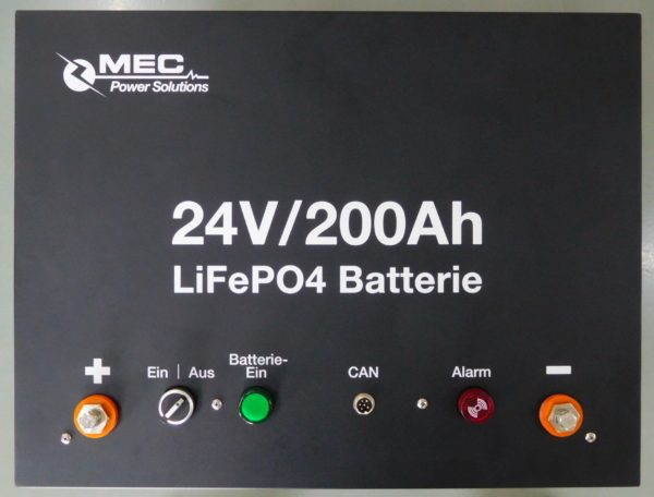 MEC 24V200Ah Lithium Battery Pack (LiFePO4)