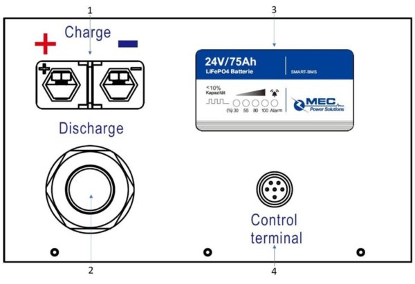 MEC 24V75Ah LiFePO4 Lithium Battery Pack